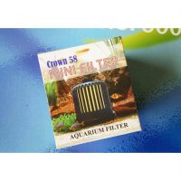 Mini Filter Crown 58 untuk Aquascape / Aquarium