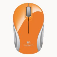 (Termurah) Mouse Logitech M 187 Wireless Mini - 910-002782 - Original - Orange