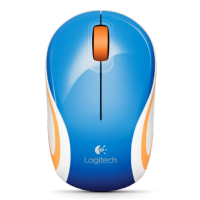 (Termurah) Mouse Logitech M 187 Wireless Mini - 910-002743 - Original - Blue