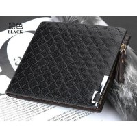 Dompet Pria IMPOR Men's PU Leather Zipper Wallet Purse Cowo | DEA