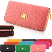 Korean Colorful Clutch Purse Brand Wallet With Gold Zipper SWEET PINK
