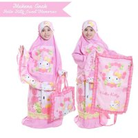 MUKENA KARAKTER ANAK SIZE S 4-6TH HELLO KITTY TAS SAJADAH