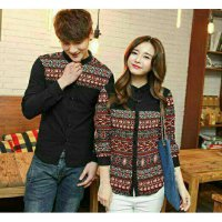 CIJ- Cp Ceremon BLACK - Kemeja couple - baju couple couple sarimbit katun,,,,,,,, good quality