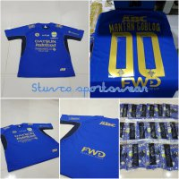 Jersey Persib Home Costume name + patch 2017/2018 grade ori official