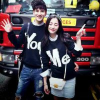 Couple Sweater Line You & Me Navy