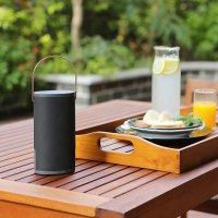 Auluxe x6 Bluetooth Speaker Tahan Air Silver / Gold Handle