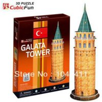 [globalbuy] Galata Tower CubicFun 3D educational puzzle Paper & EPS Model Papercraft Home /1193075