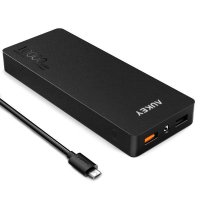 [Aukey] Pb-T4 Portable Charger Power Bank 2-Port 2.4a 10000mah With Qualcomm Quick Charge 2.0 & Aipower (Black)