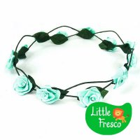 Little Fresco Crown / Mahkota Anak Anak kids CROWN TURQUOISE FLOWER KIDS