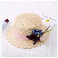 Flower Boater Hat Topi Boater Topi Pantai