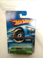 Hotwheels 64 Lincoln Continental Green Die Cast Collection