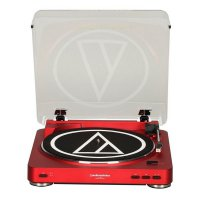 Audio Technica AT-LP60 Automatic Belt-Drive Stereo Turntable - Red