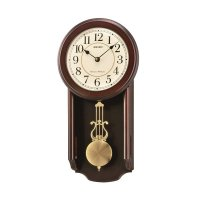 SEIKO QXH063B Analog Wall Clock with Pendulum Jam Dinding