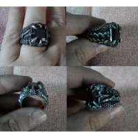 Cincin Flame Dragon Claw Black Stainless Steel