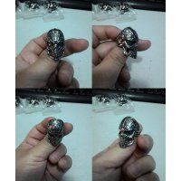 Cincin Spider Man Skull Stainless Steel