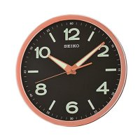 SEIKO QXA679P Quiet Sweep Lumibrite Wall Clock Jam Dinding - Pink [31 cm]
