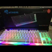 Keyboard Gaming Semi Mechanical Tkl Tgb Vegasus K10 Original