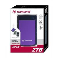 HDD External Transcend StoreJet 25H3 - 2TB USB 3 Anti Shock - Portable