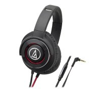 Audio Technica ATH-WS770iS BRD Solid Bass Over Headphones - Black Red