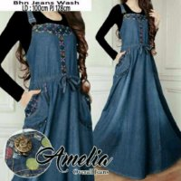 TERLARIS JS 11 OVERALL SOFT DENIM MODIS HIJAB BUMIL FRI