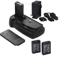 [globalbuy] Battery Grip for Canon EOS 100D Rebel SL1 Camera + black IR Remote control + 2/5288449