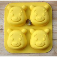 Cetakan Es Batu Winnie The Pooh Karakter Kartun Cartoon Animal Bear Beruang Puding Coklat Ice Cube Pudding Chocolate Jelly Mold