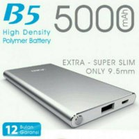 ViVAN Powerbank B5 5000 mah Super Slim Polimer Cell