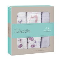 Aden Anais Organic Swaddles Once Upon a Time Kain Bedong Bayi dan Anak [3 Pack] - Purple