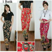 Cj collection Rok lilit batik panjang wanita jumbo long skirt Shella