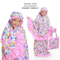 Mukena anak SD size S 4-6thn karakter, FROZEN, HELLO KITTY, PRINCESS, MARSHA and the BEAR bahan katun, tas sajadah