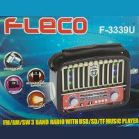 Speaker Classic Fleco F-3339U with 3 Band Radio | Support USB-MicroSD-SD Card and Big Senter