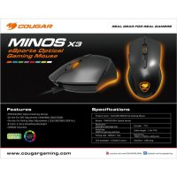 (Termurah) Gaming Mouse Cougar Minos X3 - 8 Color Backlight