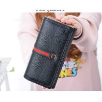 [Termurah] Dompet Panjang Garis Wallet Ladies European Fashion Wallet Bdo091