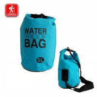 Waterproof Dry Bag Kapasitas 5 L Anti Air Tas Hiking Caving Snorkling