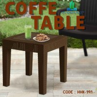 MEJA COFFEE TABLE RATTAN RINGAN KUAT KOKOH Olymplast Coffee Table Rattan Knock Down (OCT-R) - HHK-191