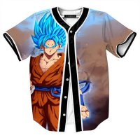 [globalbuy] New Fashion Mens Shirts Goku 3D Print Baseball Shirts Jersey Funny Anime Super/4038232