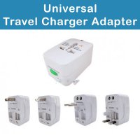 All in One (EU + AU + UK + US Plug) World Universal Travel Adapter - W