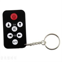 [globalbuy] 1 pcs Mini Universal Infrared IR TV Set Remote Control Keychain Key Ring 7 Key/5536064