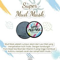 [Murah] Fleecy Super Mud Mask Original - Masker Lumpur