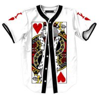 [globalbuy] 2016 Summer shirt 3d print Playing card The King of Diamonds Baseball shirt Ko/4032427