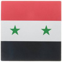[macyskorea] 3dRose 8 x 8 x 0 25 Inches Flag of Syria Syrian Red White Black with Two Gree/16336537