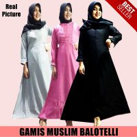 GAMIS / DRESS / MAXY MUSLIM / DRESS SYARI BALOTELLI