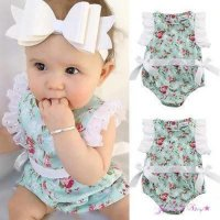 Jumpsuit bayi import #Flower with bow