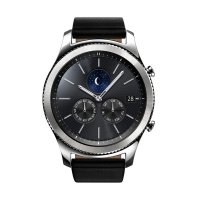 Samsung Gear S3 Classic with Black Leather Strap Smartwatch - Silver