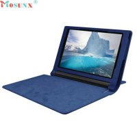 [globalbuy] Mosunx SimpleStone Leather Case Stand Cover For Lenovo Yoga Tablet 3 850F Tabl/5516734
