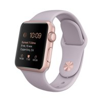[APPLE WATCH] NEW 38mm Rose Gold Aluminum Case with Lavender Sport Band