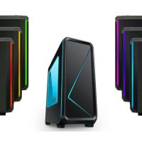 (Termurah) Casing PC CPU CUBE Gaming RGB Cabrion Black - RGB Light, Fan / USB 3.0