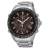 S.A.L.E Seiko Astron SSE033J1 GPS Solar 8x Chronograph Stainless Steel Brown D