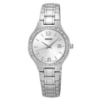 [Limited] Seiko Ladies SUR789P1 White Dial with Diamond Bezel Stainless Steel Br