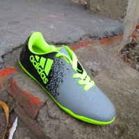 Sepatu Futsal Junior Adidas X TechFit Abu Abu Uk 34- 37